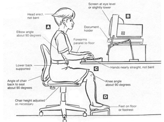 Tips to avoid pain when sitting on an Office Chair