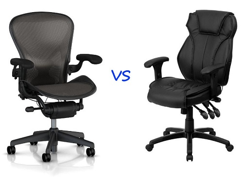 Mesh office chairs vs leather office chairs
