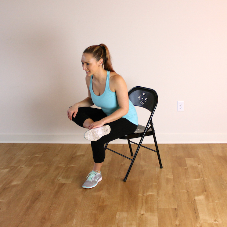 Stretching while sitting